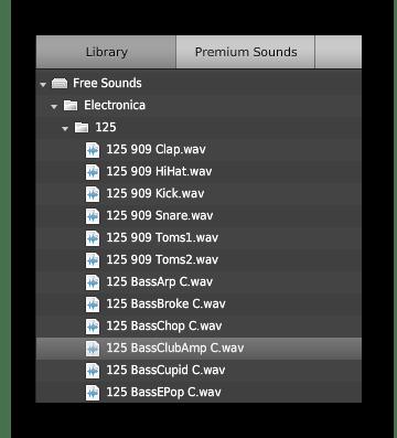 Бесплатная библиотека звуков на soundation.com