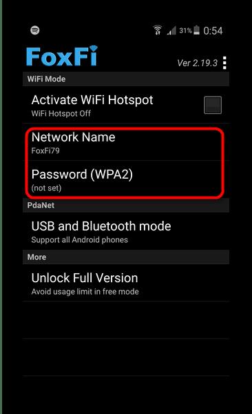 Использование мобильного телефона в качестве точки доступа Wi-Fi