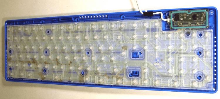 Мембранные переключатели у клавиатуры