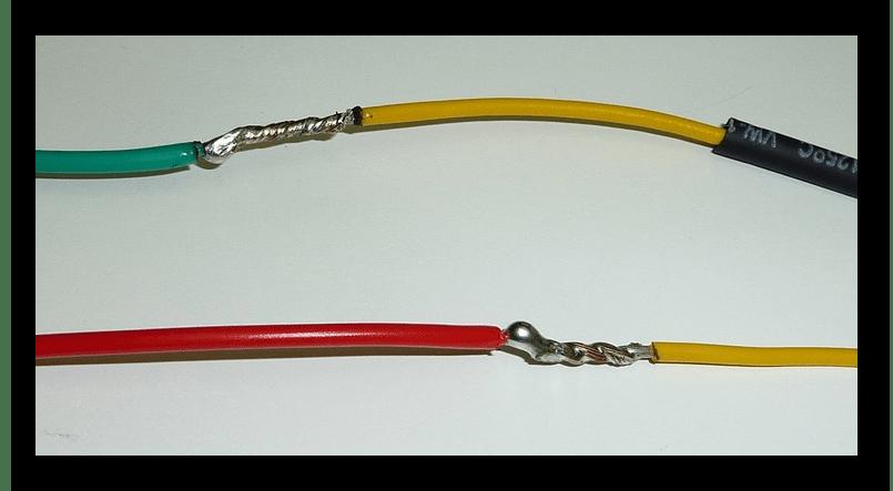 Надежно скрепленные проводки для блока питания