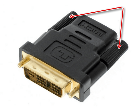 Переходник HDMI на DVI для подключения монитора