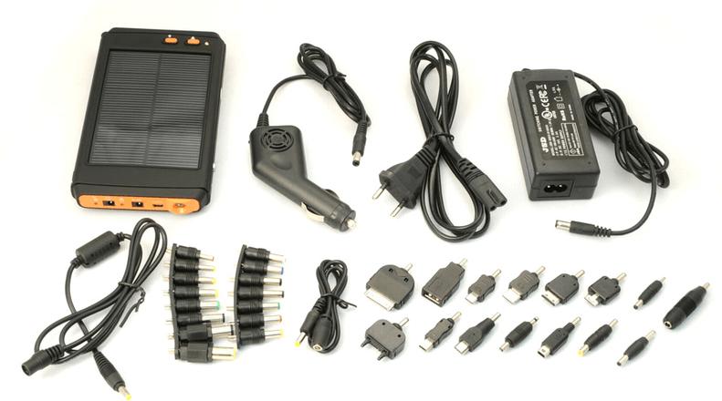 Полный комплект зарядного устройства с солнечной батареей для ноутбука