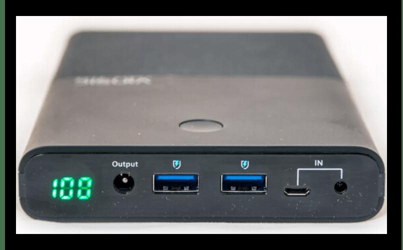 Пример большого Power Bank для зарядки ноутбука