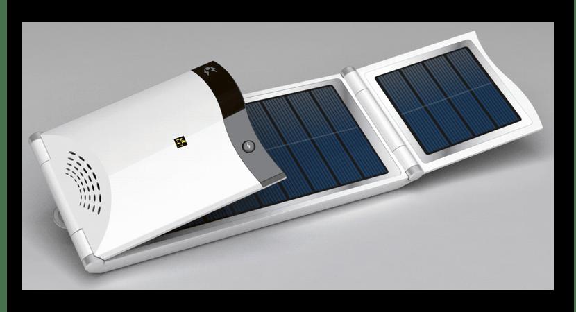 Пример внешнего вида солнечной батареи для зарядки ноутбука