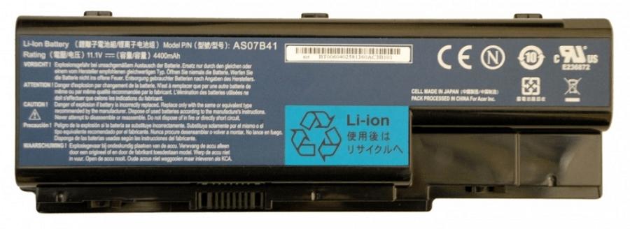 Процесс изучения информации о батареи на корпусе аккумулятора