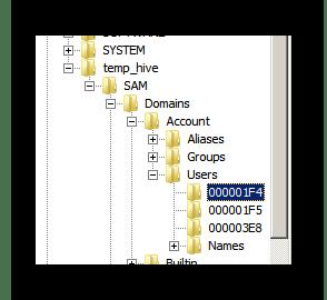 Процесс перехода к директории 1F4 в окне редактора реестра ОС Виндовс 7