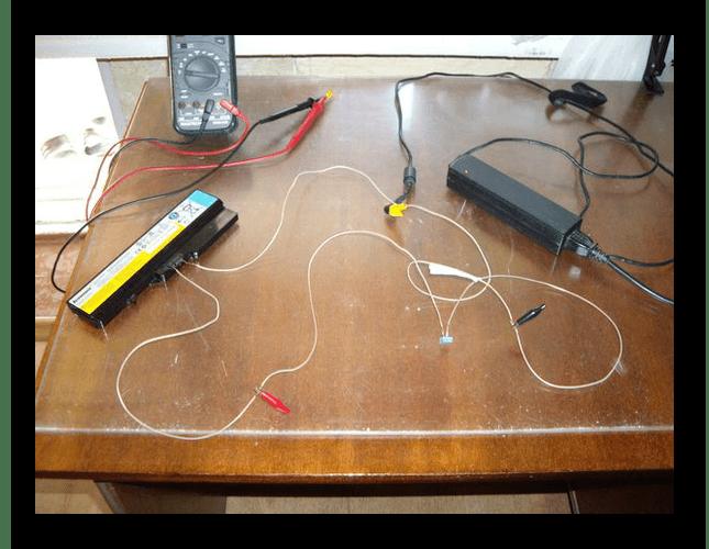 Процесс зарядки аккумулятор от ноутбука без ноутбука