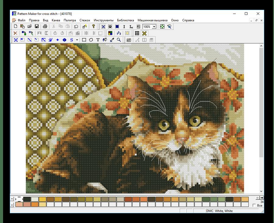 Схема вышивки открытая в Pattern Maker