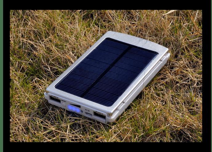 Солнечная батарея для зарядки ноутбука со встроенным хранилищем