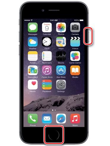 Создание скриншота в iPhone 6S и младше