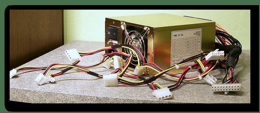 Успешно отключенный блок питания компьютера