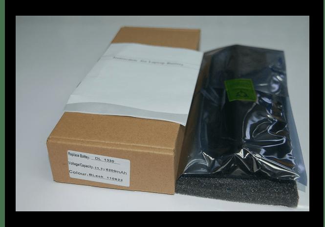 Успешно приобретенная новая батареия для ноутбука в упаковке
