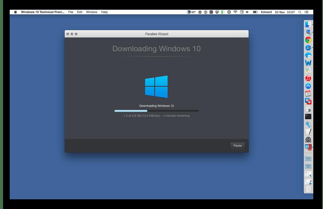 Установка Windows 10 в Parallels Desktop