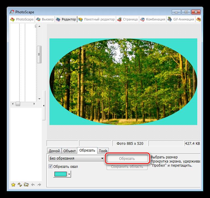 Вывод результатов обрезки фотографии в программе PhotoScape