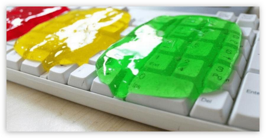 гель очиститель лизун для чистки клавиатуры