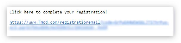 письмо для завершения регистрации от fmod