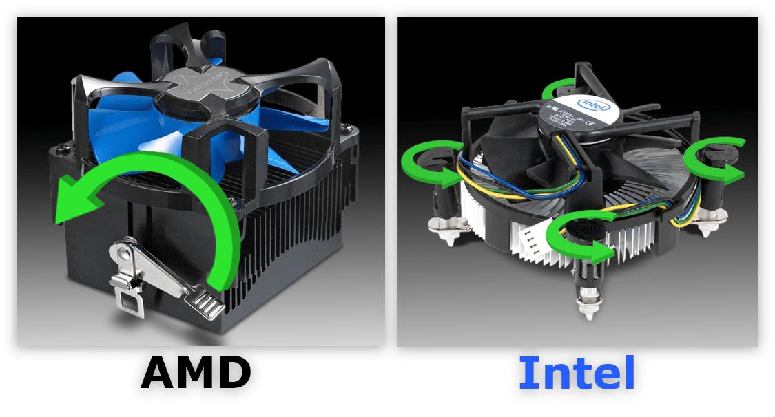 снятие кулера и радиатора с процессора у amd и intel