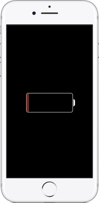 Экран iPhone при зарядке