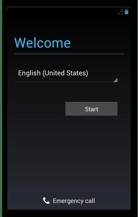 Экран первого включения Android