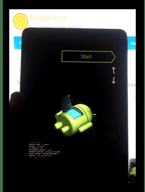Google Nexus 7 3G (2012) планшет в режиме FASTBOOT