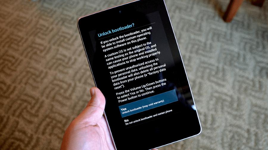 Google Nexus 7 3G 2012 разблокировка загрузчика (бутлоадера)