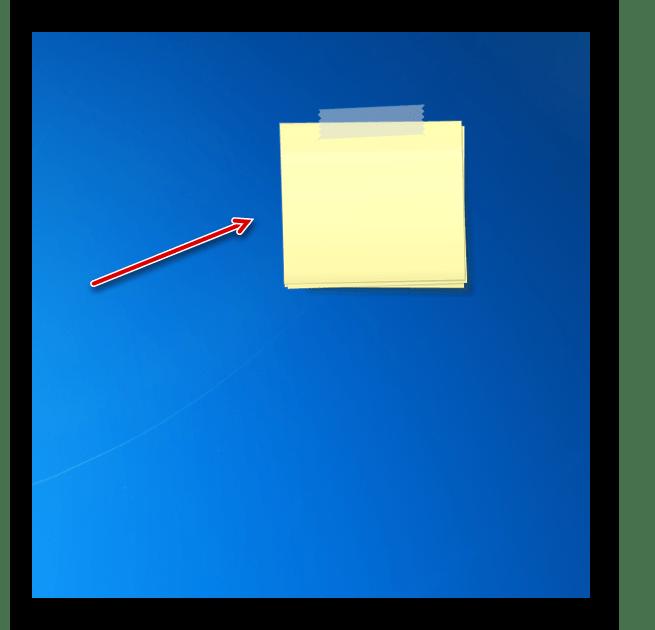 Интерфейс гаджета стикеров Chameleon Notescolour на Рабочем столе в Windows 7