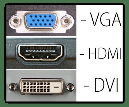 Интерфейс подключения монитора к видеокарте