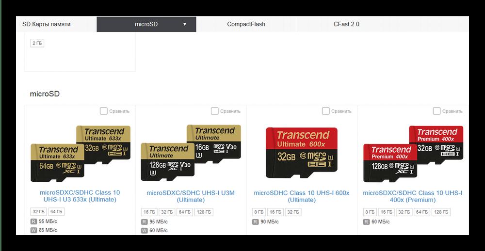 Карты памяти Transcend на официальном сайте компании
