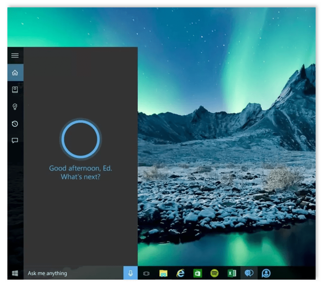 Кортана Windows 10
