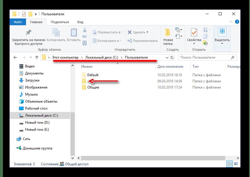 Папка пользователи в Windows