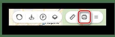 Переход к Печати в Яндекс.Картах