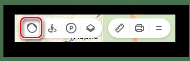 Переход к меню Пробки на странице Яндекс.Карты