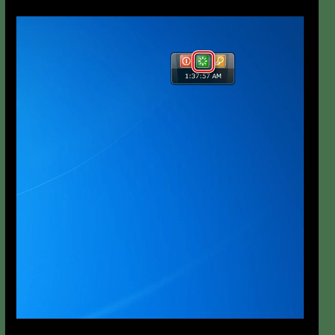 Перезагрузка компьютера в интерфейсе гаджете Shutdown в Windows 7