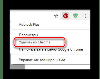 Процесс удаления расширения AdBlock из браузера Google Chrome