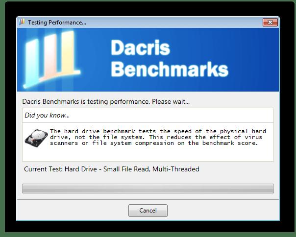 Тестирование жесткого диска Dacris Benchmarks