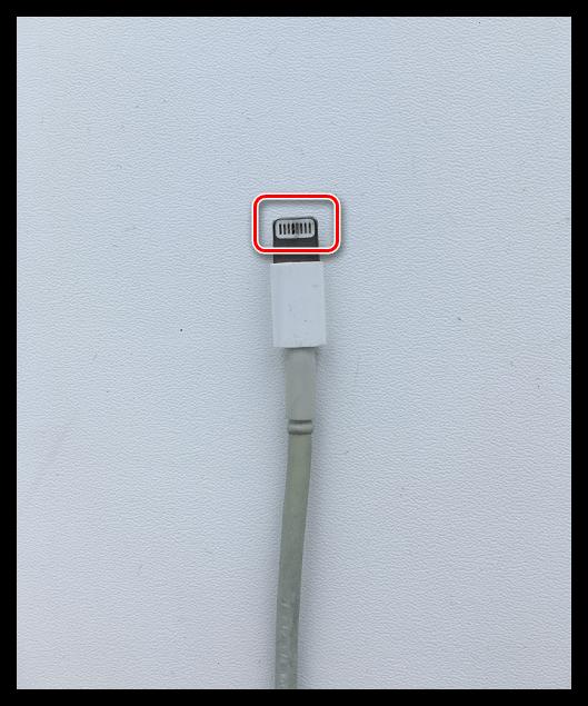 Загрязненные контакты кабеля от iPhone