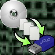 как переписать файлы с диска на флешку