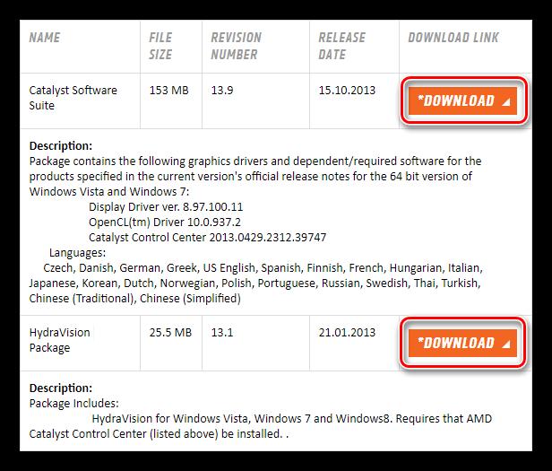 страница загрузки драйвера для видеокарты ati radeon hd 3600 series