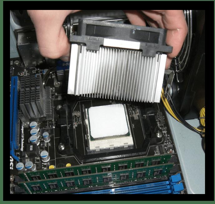 установка кулера на процессор