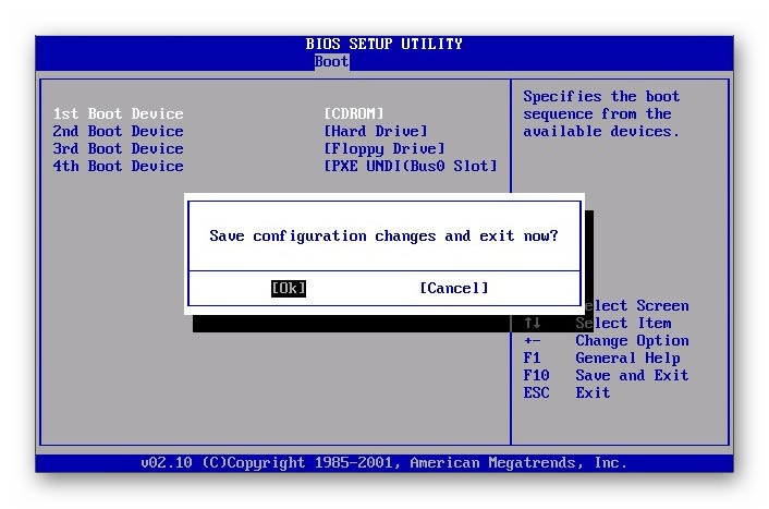 AMI BIOS сохранение настроек