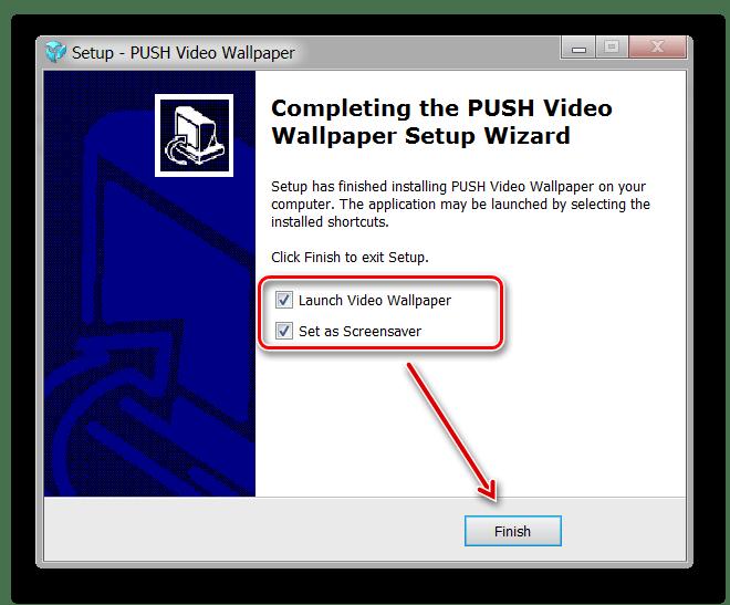 Быстрый запуск PUSH Video Wallpaper после установки