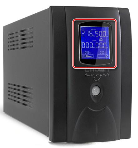 Экран индикации на передней панели ИБП для компьютера