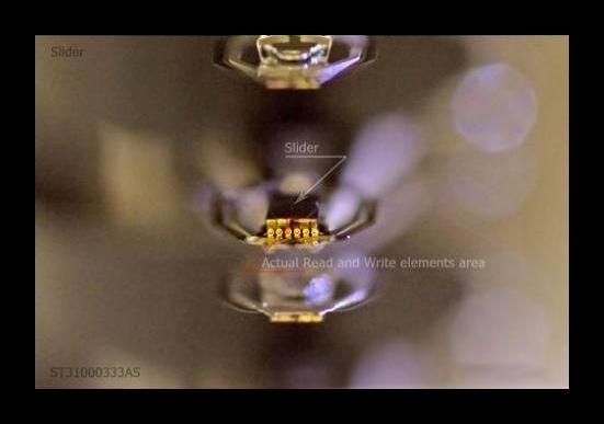 Элементы записи и чтения на слайдере в HDD