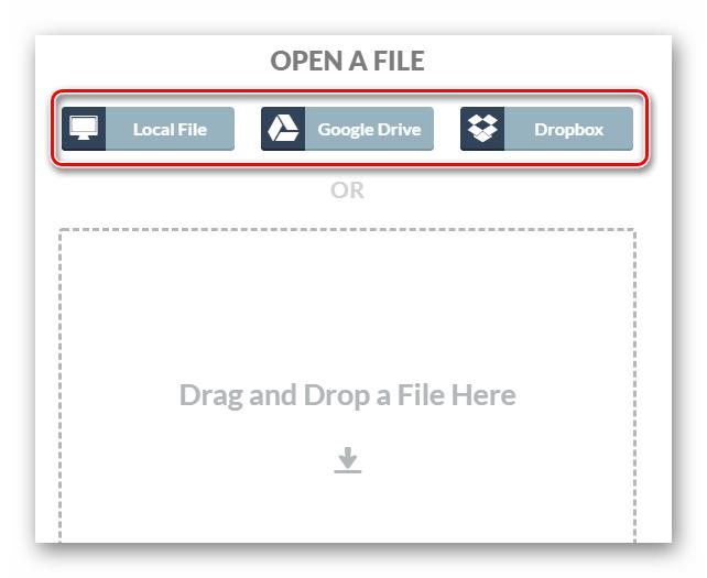 Импорт PDF-файла в онлайн сервис XODO Pdf Reader & Annotator
