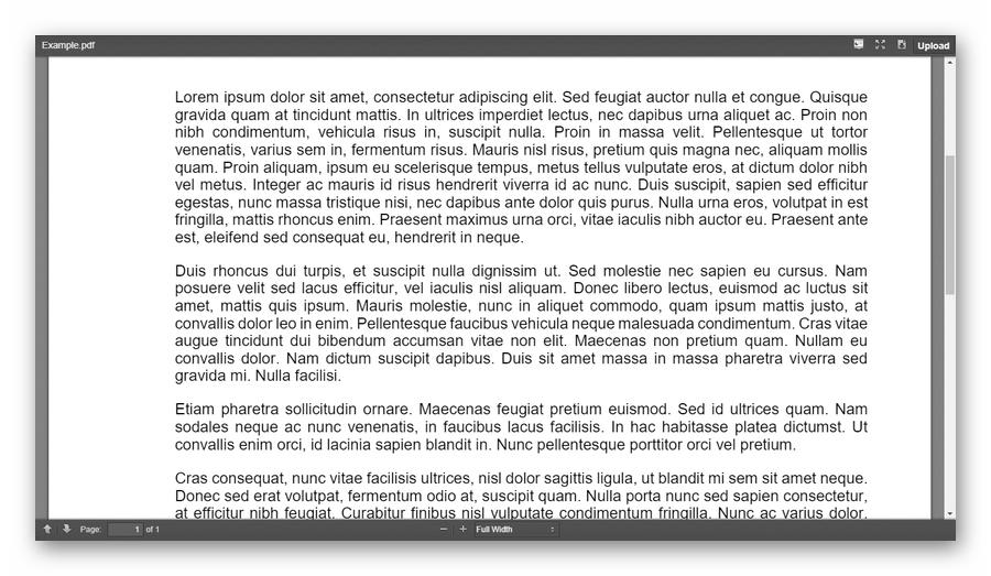Интерфейс просмотрщика PDF-документов Online PDF Viewer