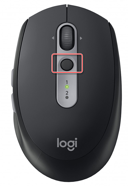 Кнопка для сопряжения на мышке