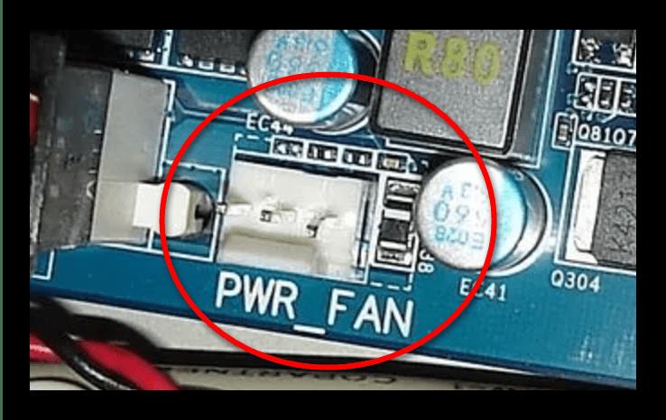 Контакты PWR FAN на материнской плате