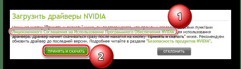 Лицензионное соглашение на сайте NVIDIA