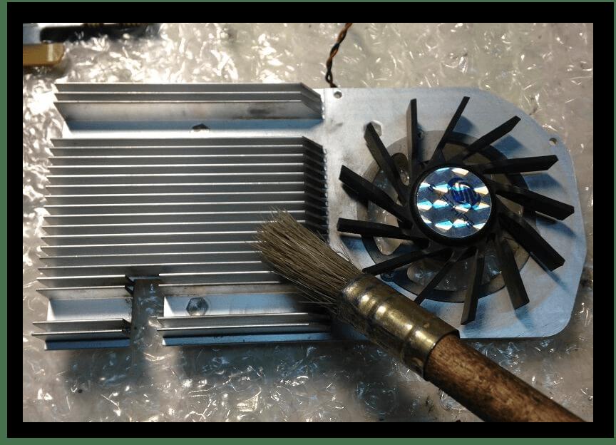 Очистка радиатора и кулера видеокарты