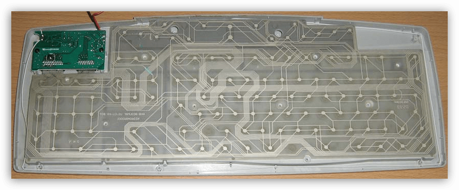 Пленки с дорожками связей на мембранной клавиатуре